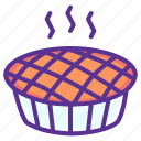 cake, cranberry, dessert, pie, pumpkin, sweet, thanksgiving icon