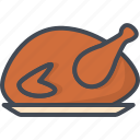 chicken, day, food, holiday, meat, thanksgiving, turkey icon