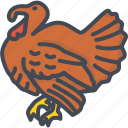 animal, day, food, holiday, meat, thanksgiving, turkey icon