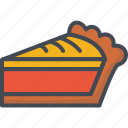 apple, cherry, day, holiday, pie, slice, thanksgiving icon