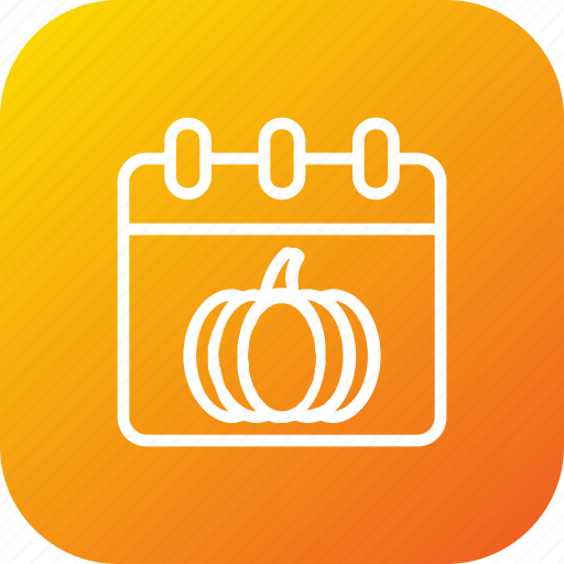 calendar, date, day, pumpkin, thanksgiving icon