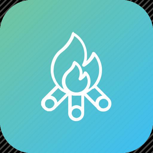 bonfire, campfire, celebration, thanksgiving icon