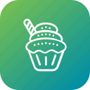 cupcake, dessert, sweet, thanksgiving icon