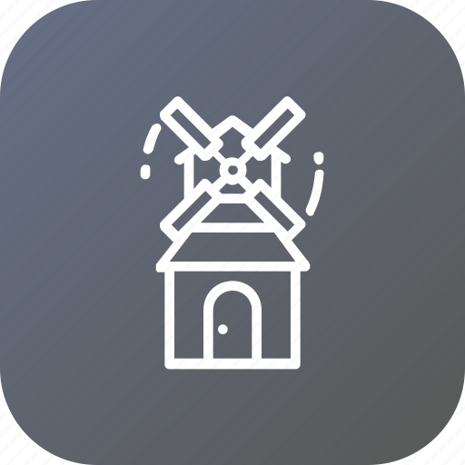 cabin, house, thanksgiving, windmill icon