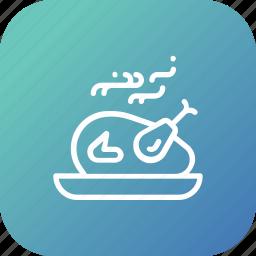 chicken, dinner, food, party, roast, tandoor, turkey icon