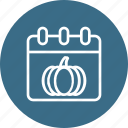 calendar, date, day, pumpkin, thanksgiving icon