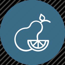 fruit, pear, thanksgiving icon