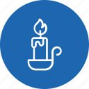 candle, light, stand, thanksgiving icon