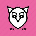 owl, halloween, thanksgiving, night icon