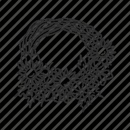 circular wreath, fall wreath, festive wreath, garland, holidy wreath, thanksgiving, wreath icon