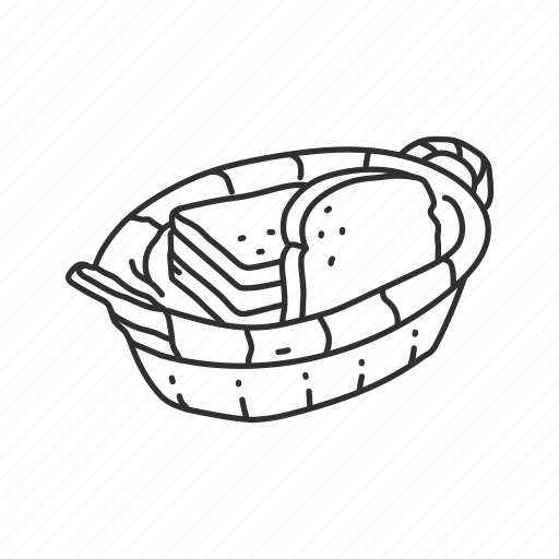 bread, bread basket, sliced bread, thanksgiving, wheat bread, white bread icon