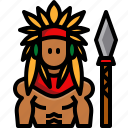 american indian, male, avatar, culture, character, man