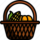 thanksgiving, harvest, basket, farming, vegetable