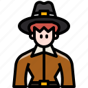 avatar, character, costume, man, thanksgiving, user, vintage icon