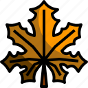 autumn, dry, fall, leaf, maple, nature icon