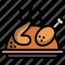 chicken, food, grill, roast, thanksgiving, turkey