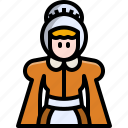 avatar, character, costume, lady, thanksgiving, user, woman icon
