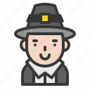 avatar, costume, pilgrim, thanksgiving icon