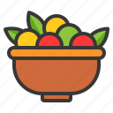 bowl, food, fruit, thanksgiving icon