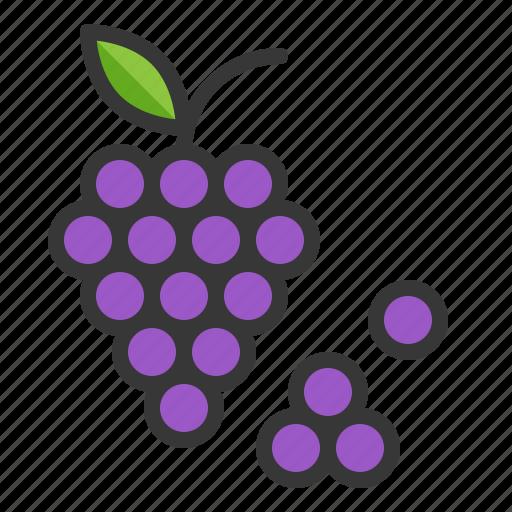 food, fruit, grape, thanksgiving icon