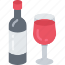 dinner, holiday, thanksgiving, drink, wine icon