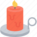 candle, dinner, holiday, thanksgiving, light icon