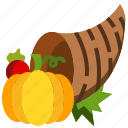 abundance, autumn, cornucopia, fruit, harvest, thanksgiving, vegetable icon