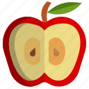 apple, autumn, fall, fruit, seed, thanksgiving icon