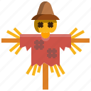 agriculture, character, farming, rural, scarecrow icon