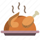 chicken, food, grill, roast, thanksgiving, turkey icon