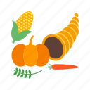 food, corn, cornocupia, crop, fresh, harvest, vegetables icon