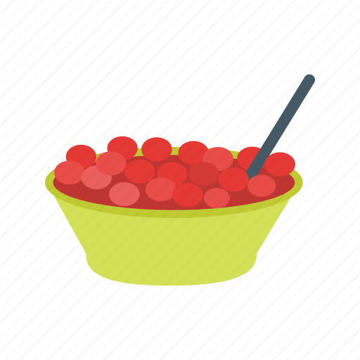 bowl, cranberries, cranberry, fresh, jelly, red, thanksgiving icon