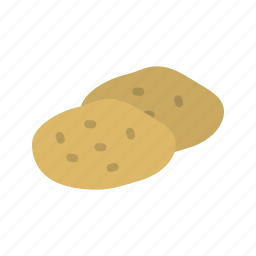 brown, field, food, fresh, nature, potatoes, vegetable icon