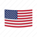 american, day, flag, happy, patriotic, thanksgiving, usa icon