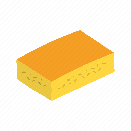 baked, cornbread, food, fresh, squares, sweet, yellow icon