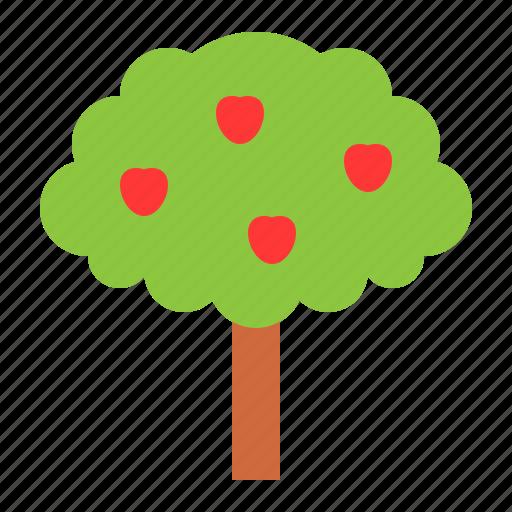 apple, apple tree, thanksgiving, tree icon