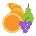 abundance, cornucopia, horn, thanksgiving icon