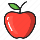 apple, eating, food, fruit, healthy icon