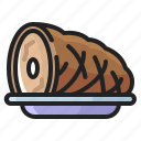 cooking, eating, food, ham, meal, meat, thanksgiving icon