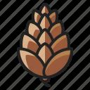 autumn, cone, fall, nut, pine, season, tree icon