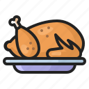 chicken, cooking, eating, food, meal, thanksgiving, turkey