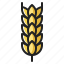 cereal, farming, food, oats, thanksgiving, wheat icon