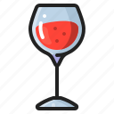 alcohol, anniversary, celebration, cup, drinking, glass, wine icon