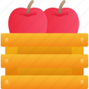 apple, crate, dinner, food, holiday, thanksgiving icon