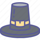 clothes, dinner, hat, holiday, pilgrim, thanksgiving icon