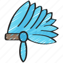 clothes, dinner, dress, head, holiday, native, thanksgiving icon