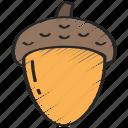 acorn, dinner, holiday, thanksgiving, tree icon