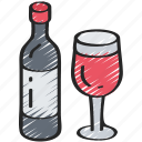 dinner, drink, holiday, thanksgiving, wine icon