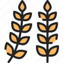 dinner, food, holiday, thanksgiving, wheat icon