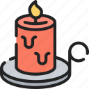 candle, dinner, holiday, light, thanksgiving icon